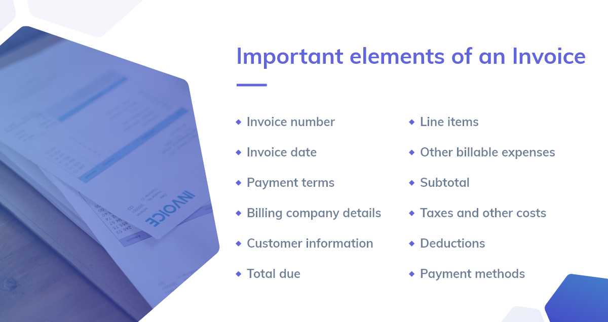 Important Elements of an Invoice
