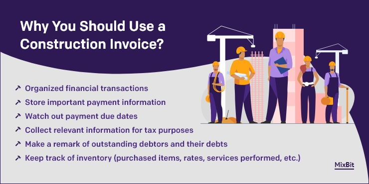 Why you should use a construction invoice?