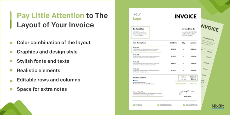 Little Attention to the Layout of Your Invoice
