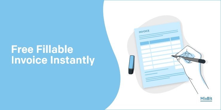 Get Free Blank Fillable Pdf Invoice Template Online In Word Mixbit