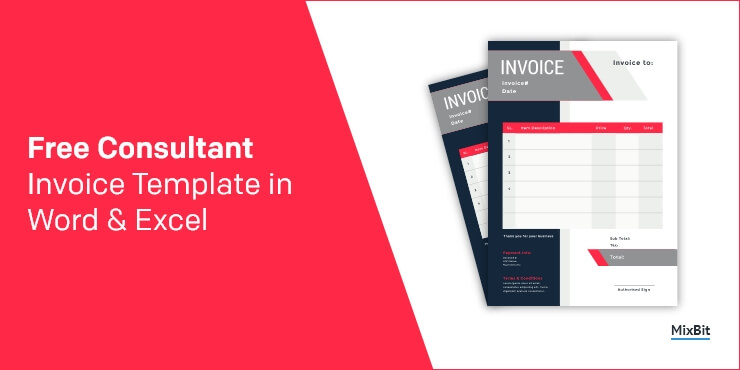 Free Consultant Invoice Templates in Word & Excel