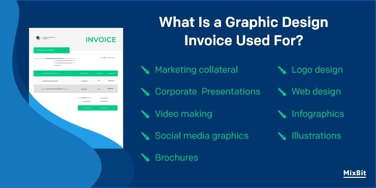 Graphic design invoice use for